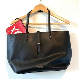 Victoria's Secret | black and red tote bag pouch